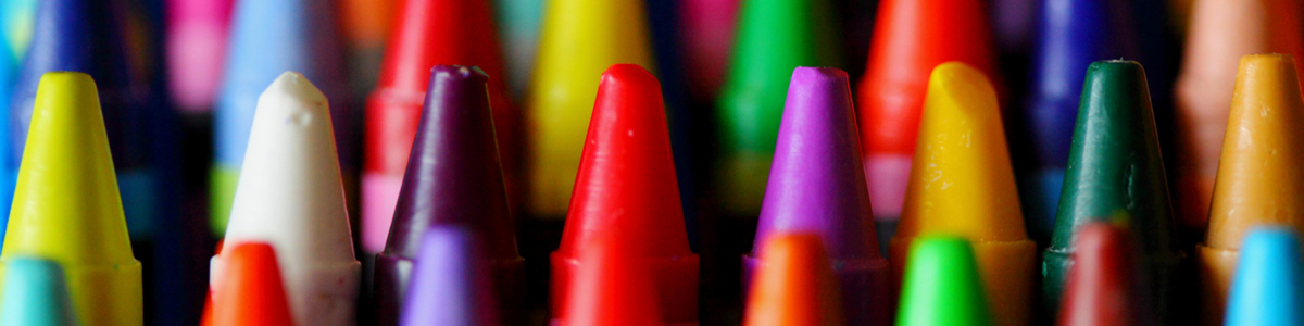 collection of coloured crayons