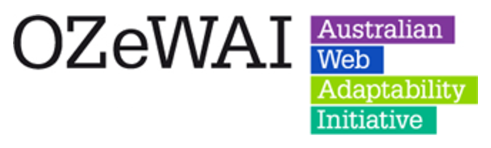 OzeWAI Australian Web Accessibility Initiative logo